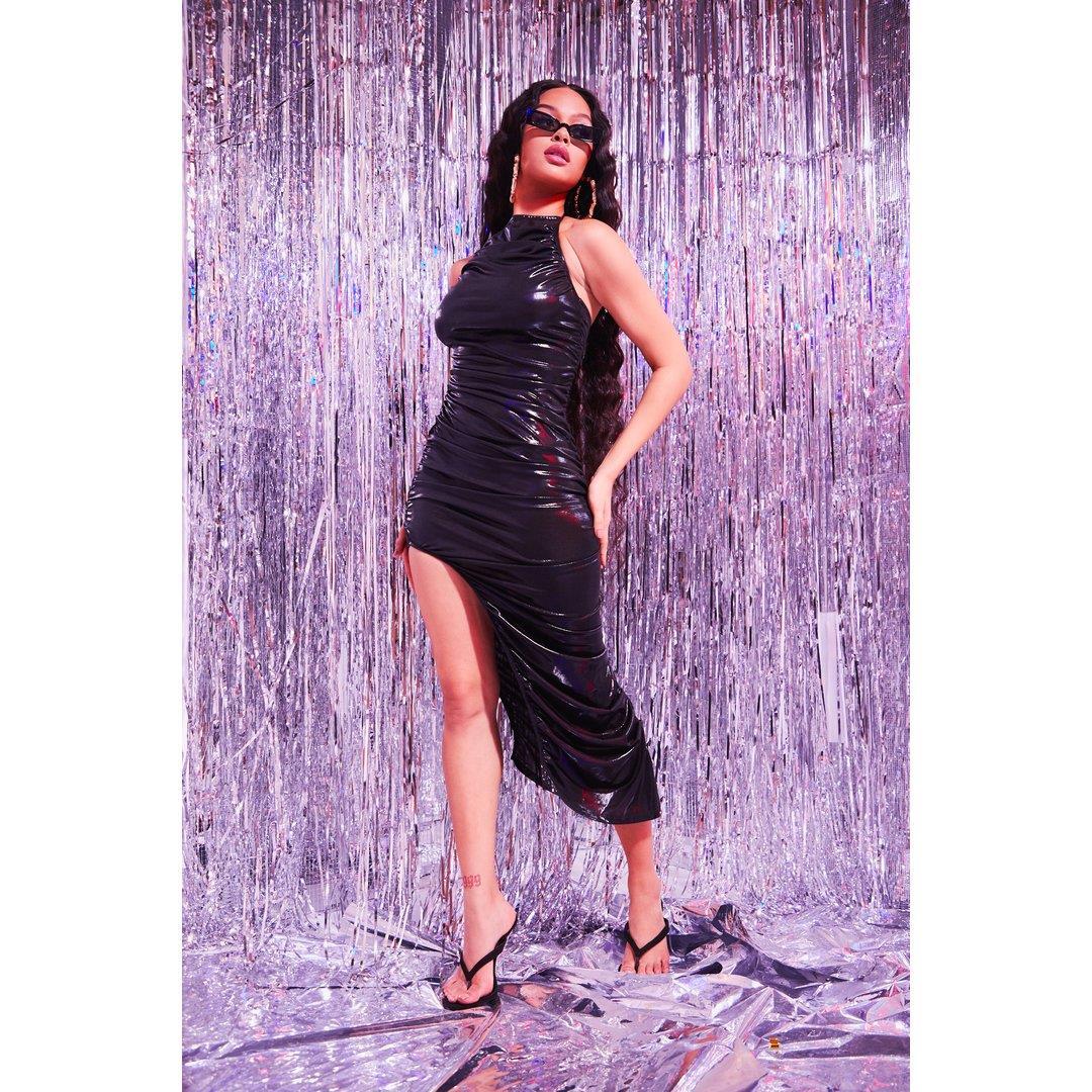 Sorella Black Maxi Metallic Dress