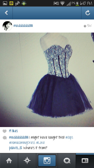 dress black sparkle diamonds prom tolo homecoming winterball cute
