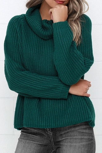 sweater green fashion style knitwear turtleneck turtle neck loose fit green sweater fall outfits winter sweater trendy casual warm cozy