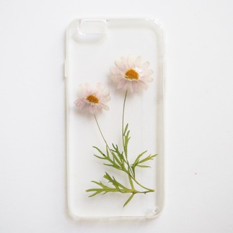 phone cover summer summer handcraft pressed flowers real flowers cell phone case iphone cover flowers gift ideas girlfirend gift birthday gift daisy