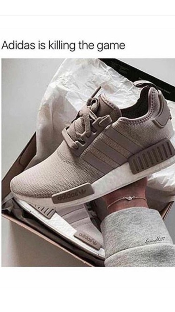 online retailer e7754 13a2b Adidas NMD R1 Knit Vapour Grey-White Women's Girls Trainers ...