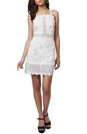 dress,white dress,white lace dress,white lace,topshop,little white dress