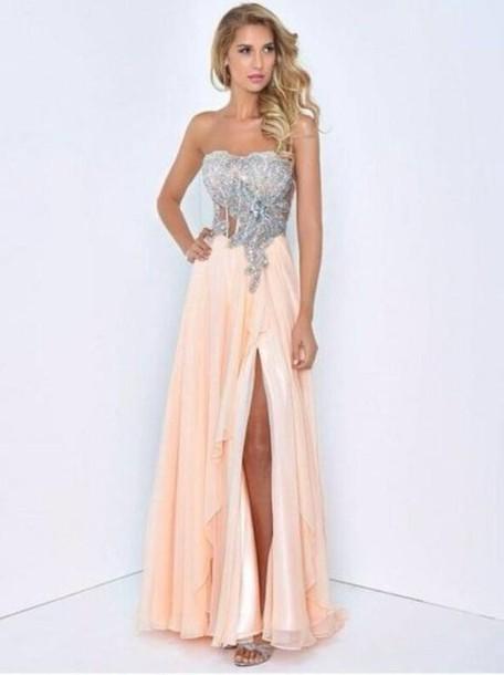dress pink dress long clothes dance long dress