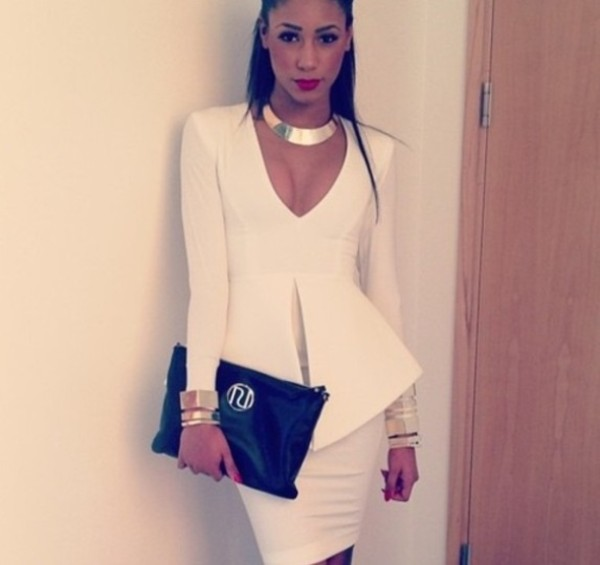 dress white dress bodycon party