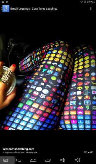leggings emoji pants