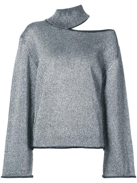 rta jumper metallic women grey sweater