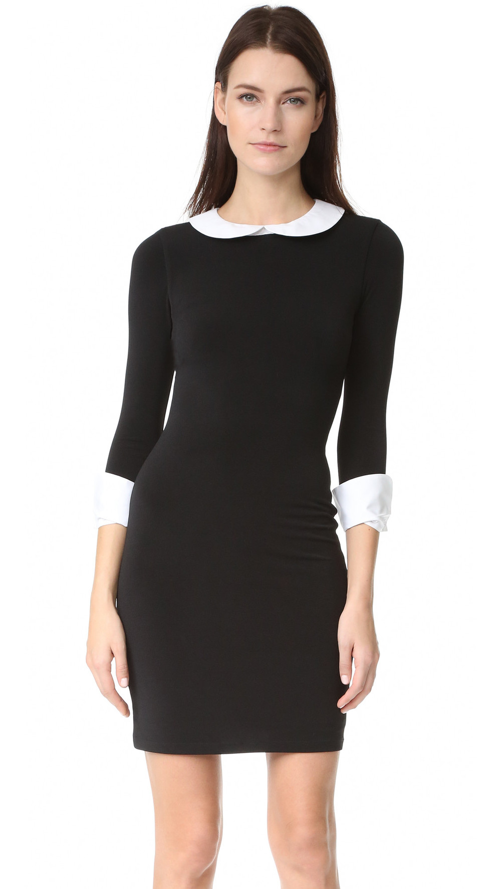 alice olivia leigh dress in navy wheretoget
