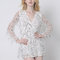 Charming lztlylzt women sexy sequins tassels mesh v neck long sleeve mini dress online - newchic