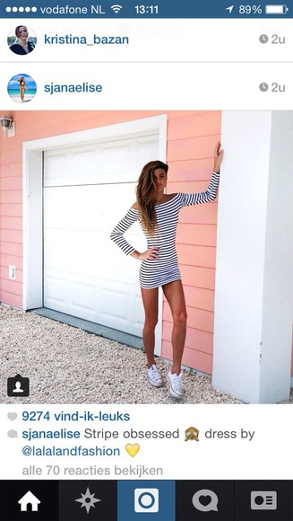 dress stripes striped skirt white dress striped dress instagram