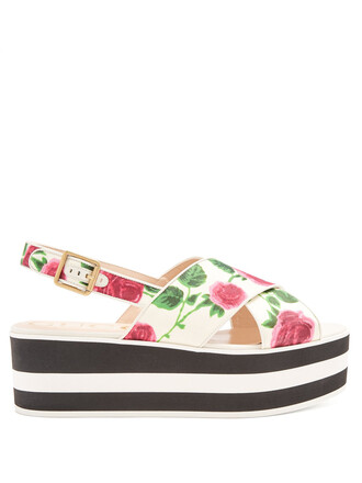 floral print white shoes