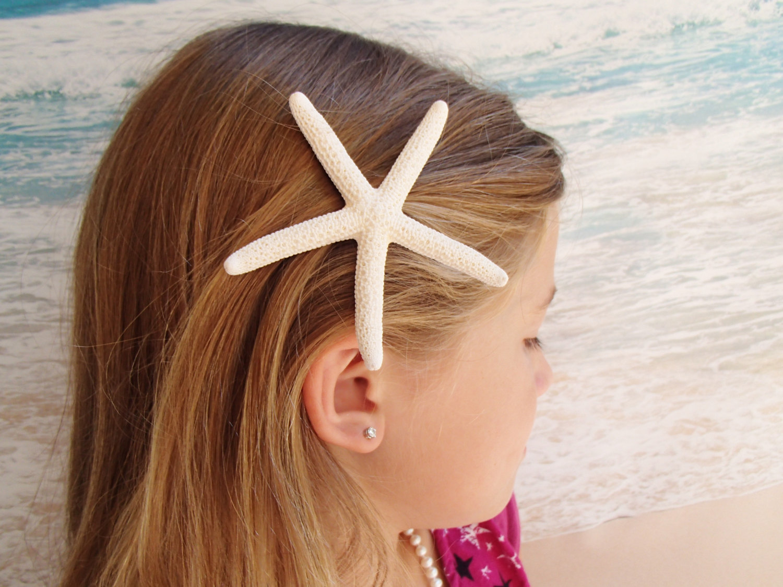 starfish hairclip wedding alligator hair clip accessory