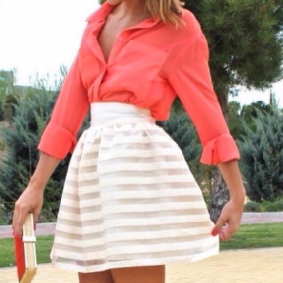 salmon blouse