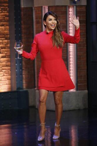 dress red dress red eva longoria mini dress long sleeve dress