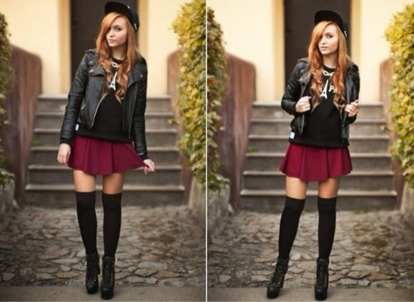 skirt hat jacket sweater underwear shoes