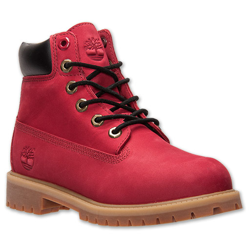 Boys' Grade School Timberland 6 Inch Classic Boots | FinishLine.com | Red Nubuck