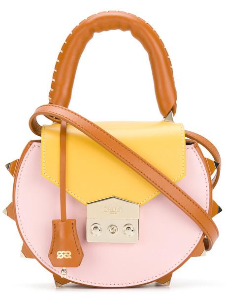 Salar cross women bag leather suede purple pink