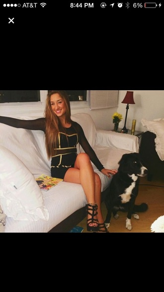 dress mesh black dress savannah montano cute