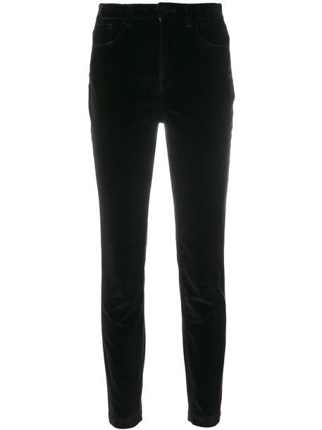 women spandex leather cotton velvet purple pink pants