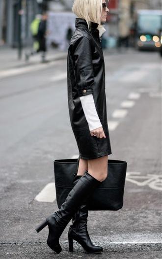 hippie hippie milkshake blogger black boots leather bag black dress leather