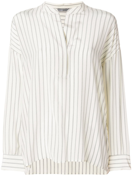 Vince blouse women nude silk top