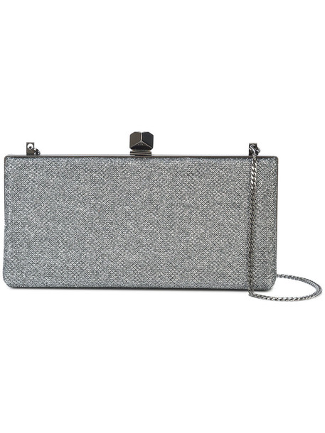 Jimmy Choo women clutch satin grey bag