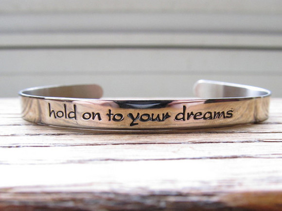 engrave jewels hold on to your dreams bracelets