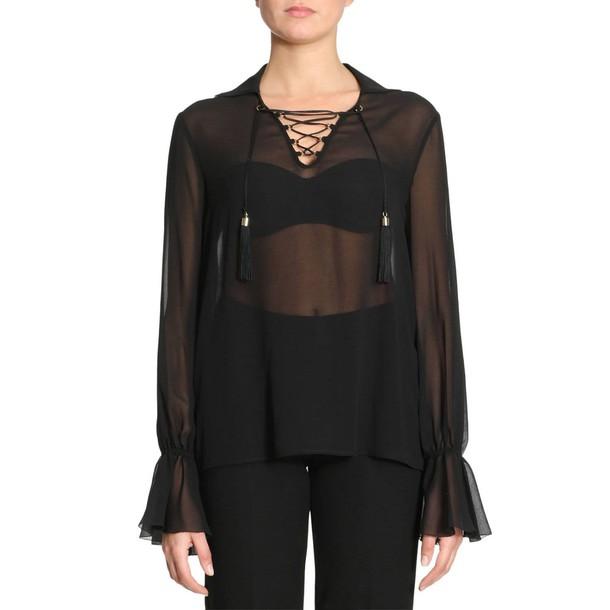 Versace Collection shirt women black top