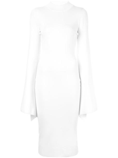 Solace London dress women spandex white