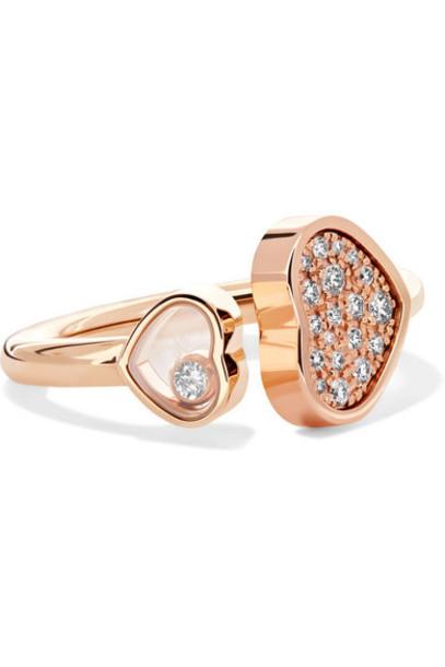 Chopard - Happy Hearts 18-karat Rose Gold Diamond Ring