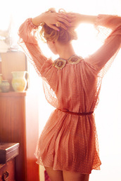 dress,chiffon,lace dress,pink dress,details,short dress,spring dress,long sleeve dress,summer dress,light pink dress