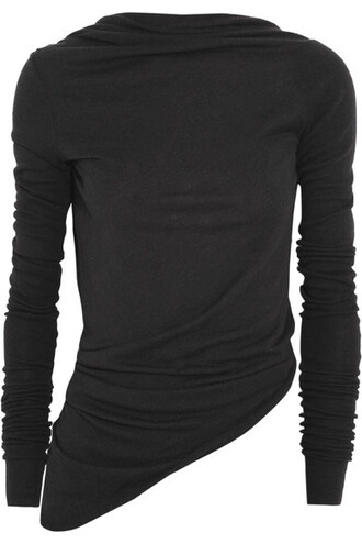 top knitted top back open black