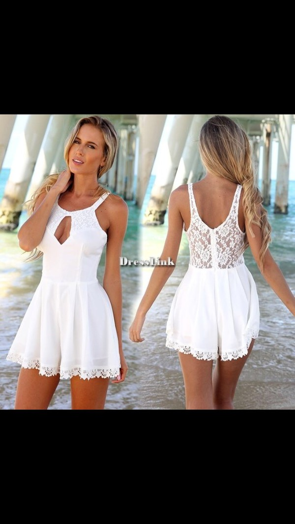 dress lace dress white dress lace dress white lace dress white summer dress white short dress mini dress romper white romper lace romper jumpsuit white jumpsuit short romper short jumpsuit