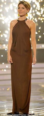 dress,danni minogue,grecian maxi dress,maxi dress