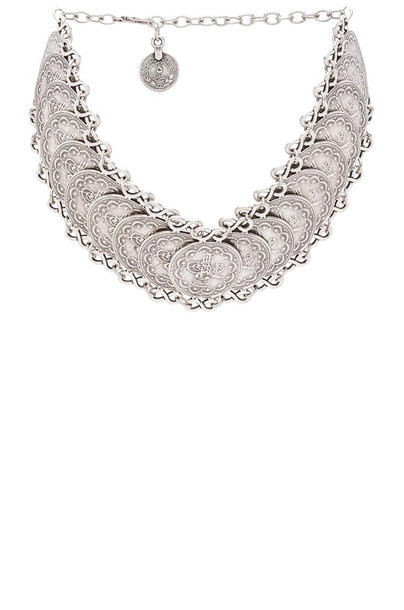 Natalie B Jewelry necklace choker necklace metallic silver