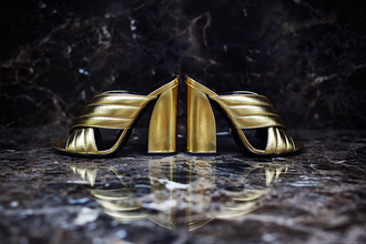 5 inch and up blogger gold shoes thick heel mules gucci party shoes birthday