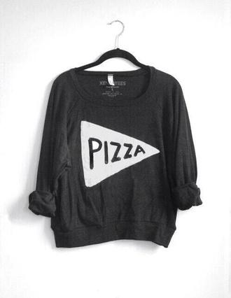 sweater pizza shirt
