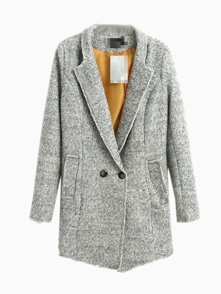 Light Gray Longline Coat | Choies