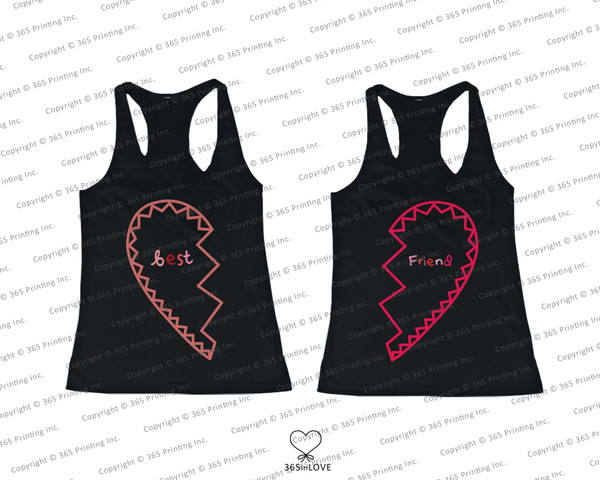 tank top bff bff bff shirts bff tank tops matching tank tops half heart tank tops friendship gifts friendship shirts beach matching shirts for best friends half and half