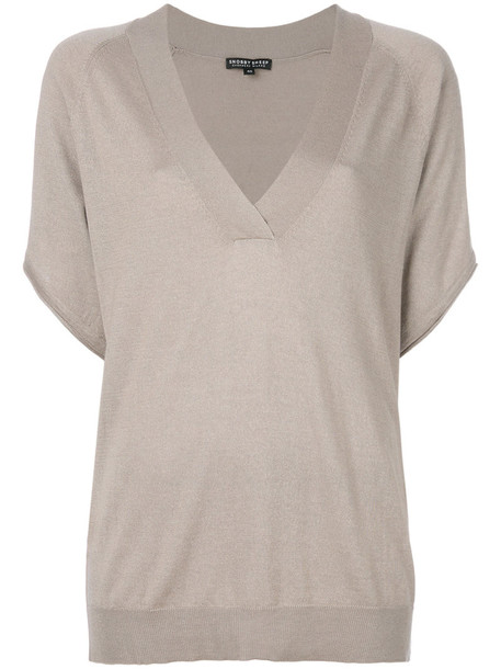 Snobby Sheep top knitted top women nude silk