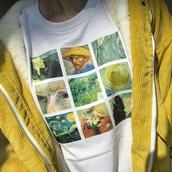 shirt,van gogh,art,white,colorful,painting,t-shirt