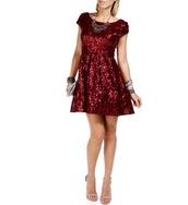 dress,burgundy,red,sequin dress,short party dresses,sequins,party dress,formal party dresses,cocktail dress