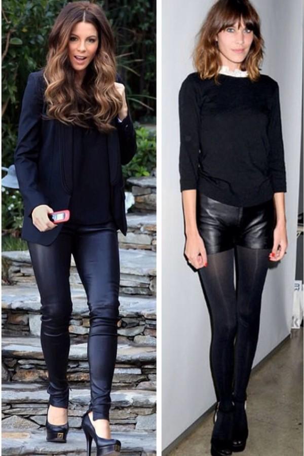 pants kate beckinsale black outfit black jacket skinny pants