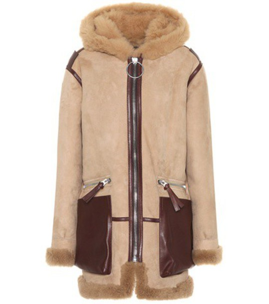 Acne Studios coat leather beige