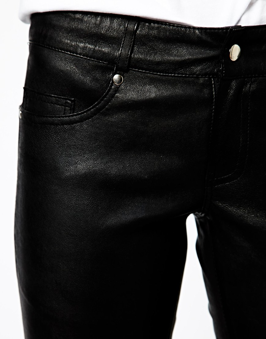 Mango Leather Trouser at asos.com