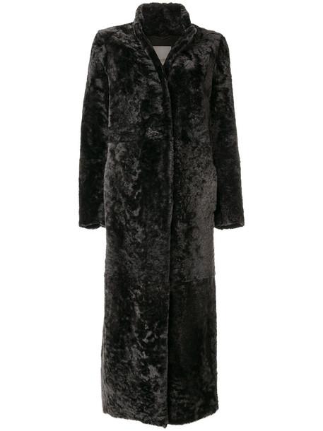 'S Max Mara coat long fur women grey