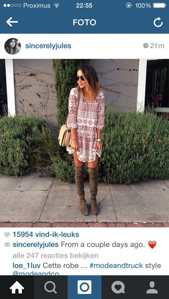 dress sinceryjules floral dress shoes stuart weitzman style spring khaki suede boots fashion
