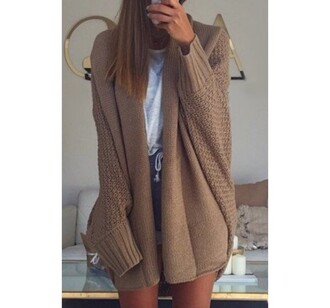 cardigan warm cozy fall outfits style fashion winter outfits knitwear beige long sleeves casual beige cardigan knitted cardigan sweater girly girl girly wishlist oversized cardigan