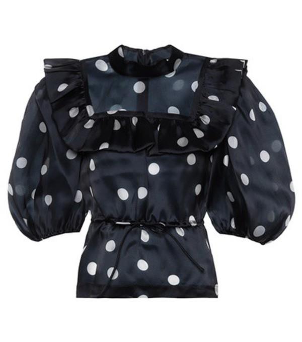 Ganni Seneca silk blouse in blue
