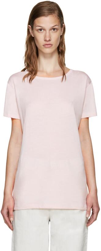 t-shirt shirt back open open back pink top