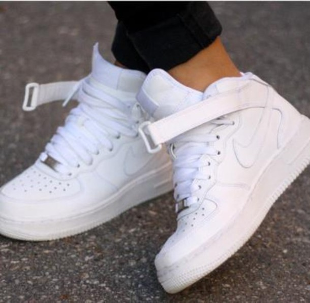 separation shoes c0c99 2f1d5 shoes nike sporty white white high top air force ones